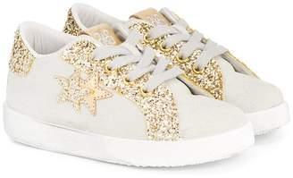 Star Kids 2 glittered trim sneakers