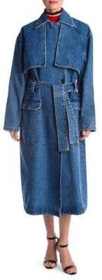 MSGM Oversized Denim Trench