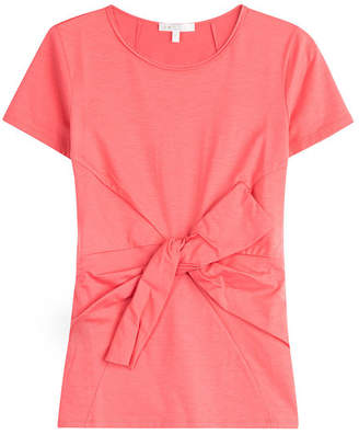 Paule Ka Belted Cotton T-Shirt