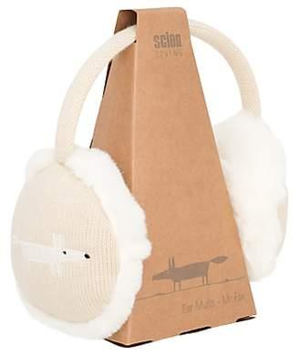 BEIGE Scion Mr Fox Ear Muffs, Parchment