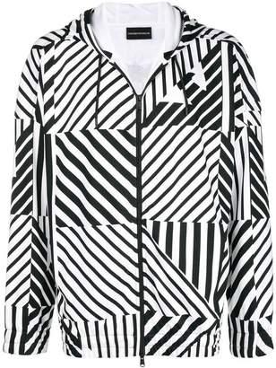 Emporio Armani geometric print hoodie