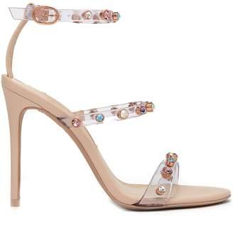 Sophia Webster Rosalind crystal-embellished plexi sandals