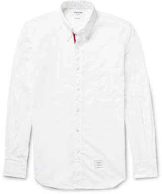 at Mr. Porter Thom Browne Slim-Fit Button-Down Collar Cotton-Poplin Shirt