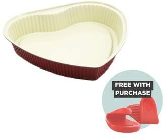 Ceramic Natural Coating Heart Shape 27cm Cake Pan