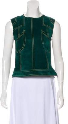 Derek Lam Sleeveless Suede Top