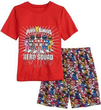 Boys 4-12 Power Rangers 2-Piece Pajama Set