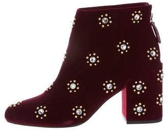 Chiara Ferragni Embellished Velvet Boots