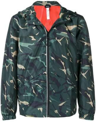 Diesel hooded camouflage jacket