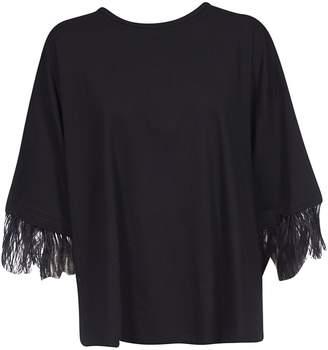 N°21 N.21 Feather Trim T-shirt