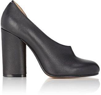 Maison Margiela Women's Half D'Orsay Pumps-BLACK $750 thestylecure.com
