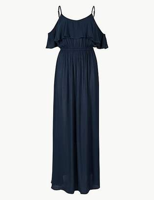 Marks and Spencer Crinkle Frill Maxi Beach Dress