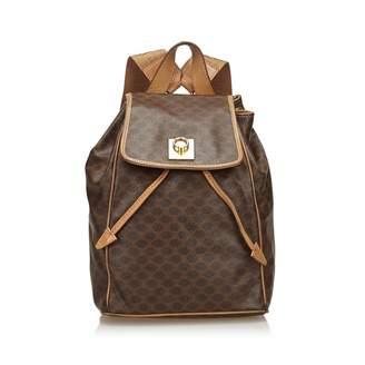 Celine Vintage Brown Plastic Backpacks
