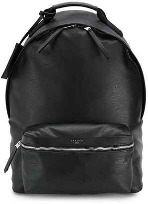 Sandro Paris coated fabric backpack