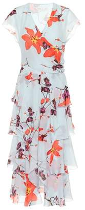 Etro Floral-printed silk midi dress