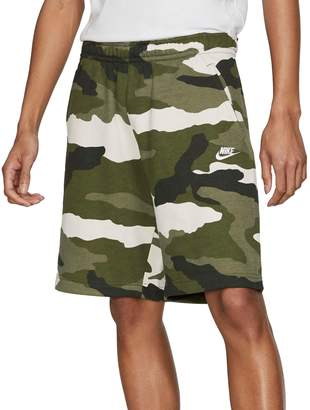 Nike Club Camouflage Cotton Blend Fleece Shorts