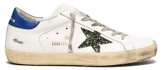 Golden Goose Super Star Low Top Leather Trainers - Womens - White Navy
