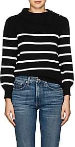 Co Women's Striped Wool-Cashmere Sweater - Black
