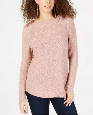 INC International Concepts I.n.c. Textured-Knit Shimmer Sweater