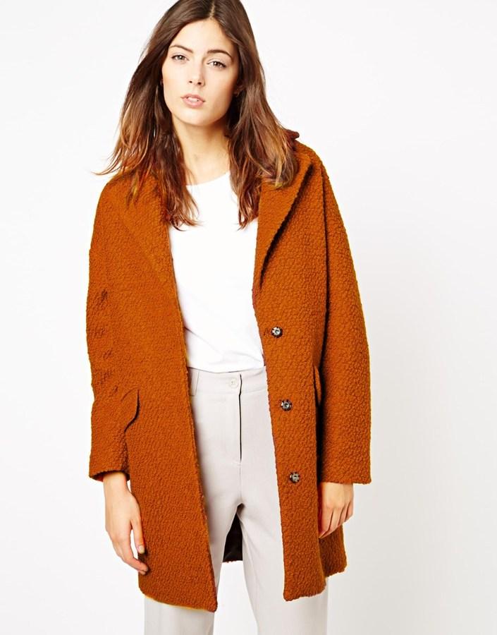 Asos Textured Longline Coat