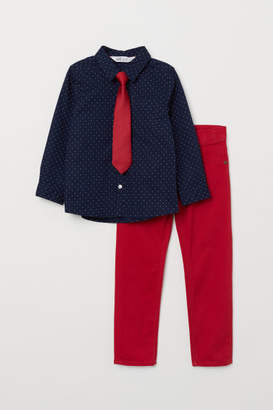 H&M Shirt and Pants - Red