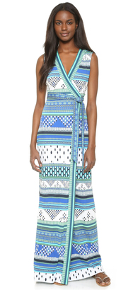 Diane von Furstenberg New Yahzi Wrap Maxi Dress $468 thestylecure.com
