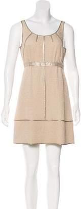 Louis Vuitton Silk Textured Mini Dress
