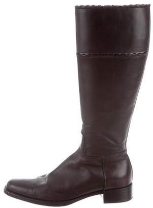 Alaia Leather Knee-High Boots