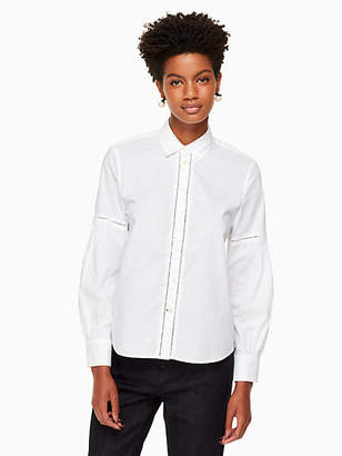 Kate Spade Puff sleeve poplin shirt
