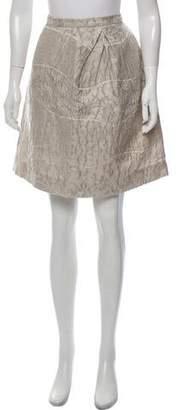 Peter Som Textured Knee-Length Skirt