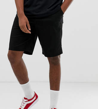 Asos Design DESIGN Tall relaxed chino shorts in black