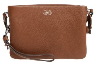 Vince Camuto 'Cami' Leather Crossbody Bag - Brown $128 thestylecure.com
