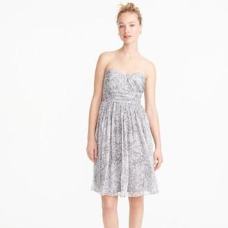 Marbella strapless dress in watercolor silk chiffon $228 thestylecure.com