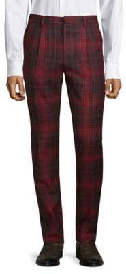 Valentino Plaid Wool Pants