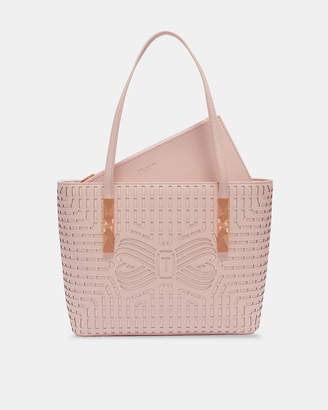 Ted Baker BREEANA Cut-out bow leather shopper bag
