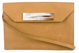 Balenciaga Textured Nubuck Cable Flap Clutch