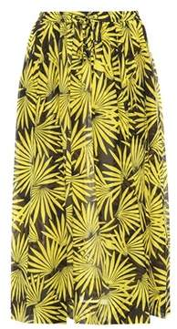 Diane von Furstenberg Printed cotton and silk skirt