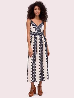 Kate Spade Sand Dune Lace Midi Dress, Black/Cream - Size 00