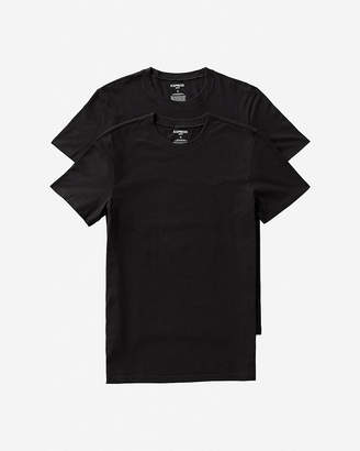 Express Skim Stretch Cotton Crew Neck Tees 2 Pack