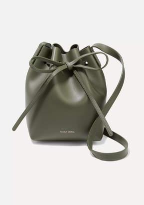 Mansur Gavriel Mini Mini Leather Bucket Bag - Army green