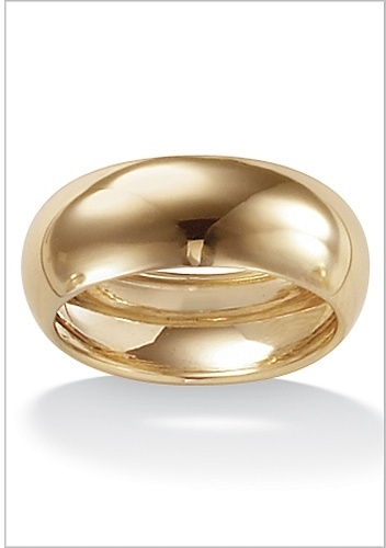 10k Gold Wedding Band 8 mm