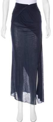 Helmut Lang Draped Maxi Skirt