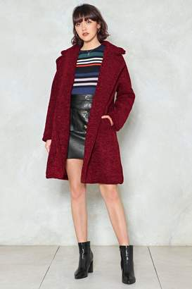 Nasty Gal Cover Up Faux Shearling Coat