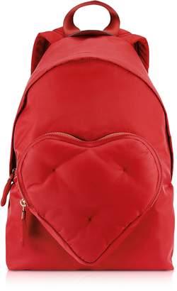 Anya Hindmarch Red Nylon Chubby Heart Backpack