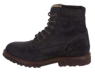 Brunello Cucinelli Suede Hiking Boots
