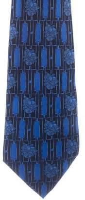Lanvin Silk Floral Print Tie