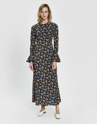 Les Rêveries Open Back Floral Dress
