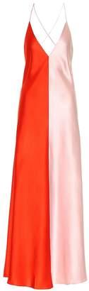 Lee Mathews Silk maxi dress