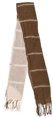 Ralph Lauren Stripe Fringe Shawl