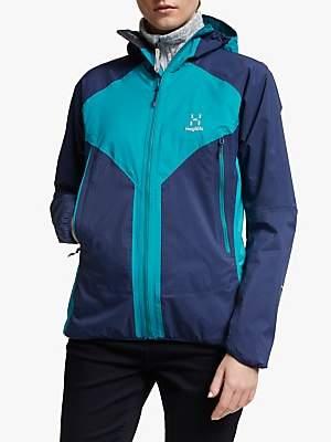 Haglöfs L.I.M Proof Multi Women's Waterproof Jacket, Tarn Blue/Alpine Green