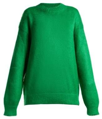 Prada - Mohair Blend Sweater - Womens - Green